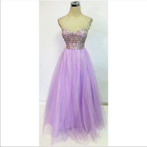 🔥SALE🔥Strapless lilac fancy dress 🔥🔥